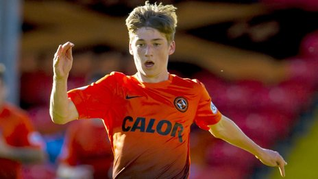 Dundee United forward Ryan Gauld