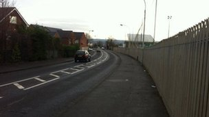 The shots were fired in the Suffolk area of west Belfast