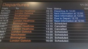 Cancelled flights at George Best City Airport