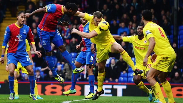 Crystal Palace 2-0 Cardiff City...