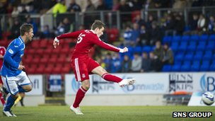 Peter Pawlett was the man to lash Aberdeen in front at McDiarmid Park