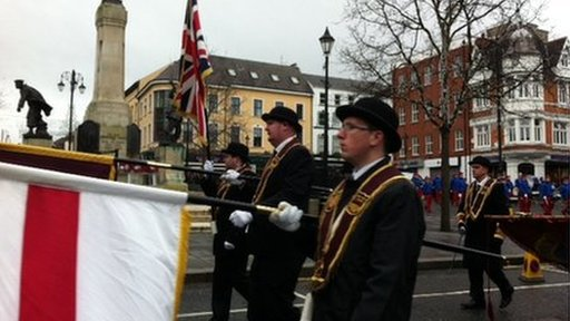 Members of the Apprentice Boys of Derry during Saturday's parade