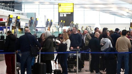 UK air delays to last into Sunday
