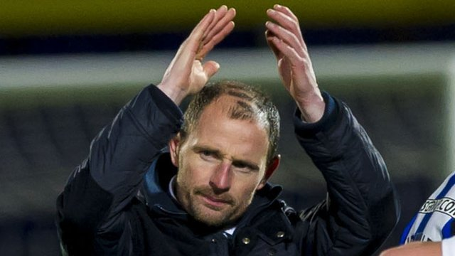 Kilmarnock manager Allan Johnston