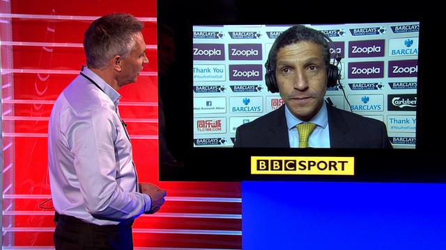 Gary Lineker speaks to Chris Hughton