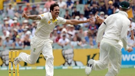 Mitchell Johnson dismissed Alastair Cook for one