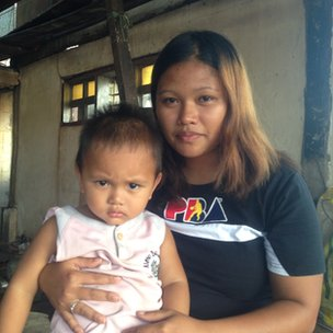 Zyrene Tomada with her son Clyde
