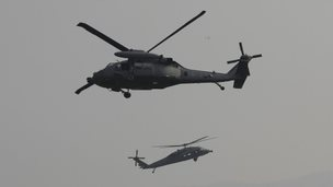 South Korean Air Force UH-60 helicopters