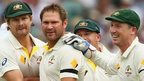 Ryan Harris and Australia celebrate