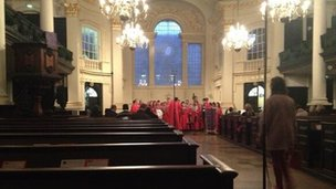 Choir rehearsal at St Martins in the Field