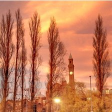 Sunset over Birmingham University