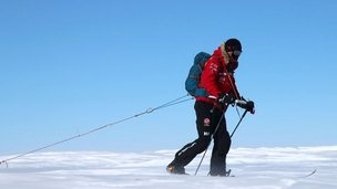 Prince Harry walking in Antarctica