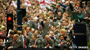 England Rugby World Cup team victory parade December 8, 2003
