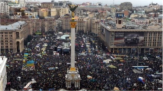 Huge pro-EU protest in Ukraine...