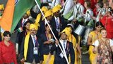 The Indian team at the London 2012 opening ceremony