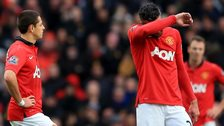 Dejected Manchester United players after the defeat by Newcastle