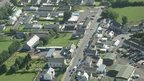 Aerial view of Dunloy Main Street