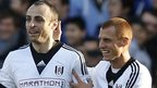 Fulham's Dimitar Berbatov (left) and Steve Sidwell