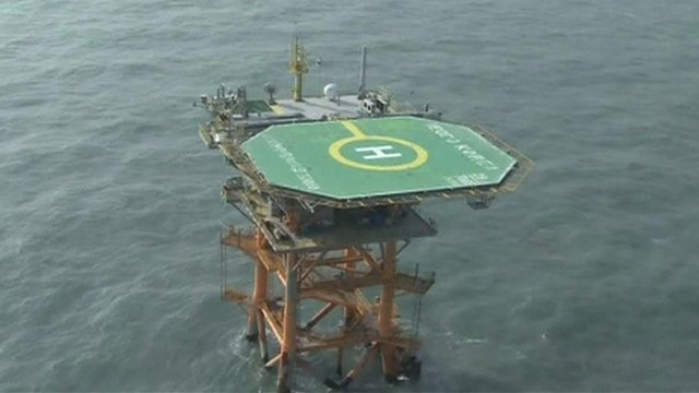 The South Korean maritime research base perched on the submerged Ieodo rock