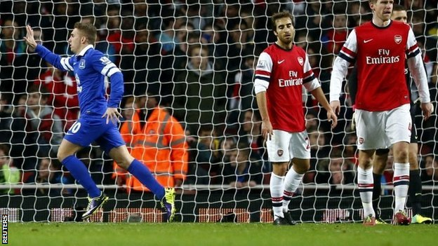 Everton hold leaders Arsenal