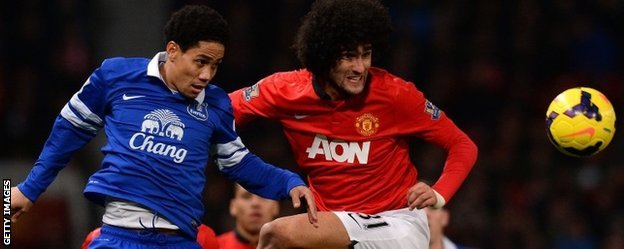 Marouane Fellaini (r) joined Manchester United for £27.5m on deadline day in September