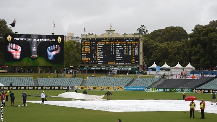 The scene at the Adelaide Oval