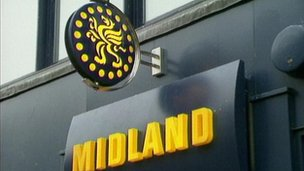 Midland Bank sign