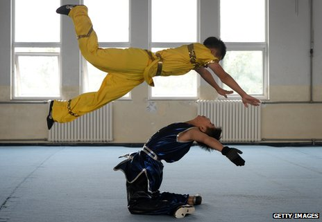 A wushu training centre in Tianjin, China