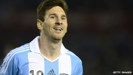 Argentina and FC Barcelona footballer Lionel Messi