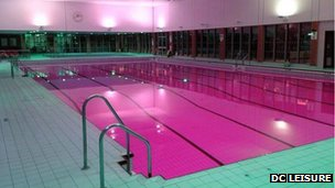 Pink swiming pool