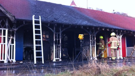 Beach chalet fire in Scarborough