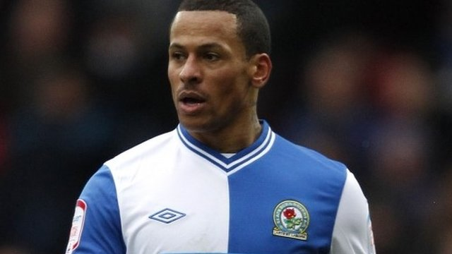 Blackburn Rover footballer DJ Campbell