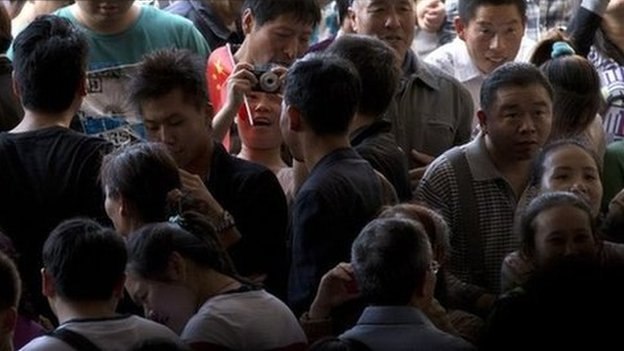 File photo of people in Beijing