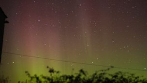 Northern lights on Coll