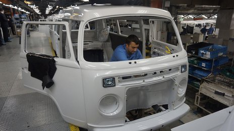 VW production line in Sao Bernardo, Brazil