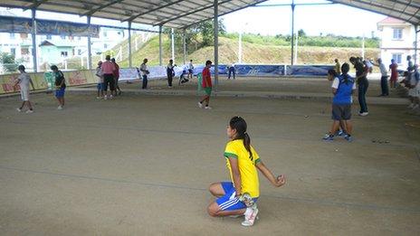 Petanque training