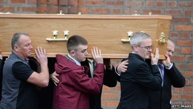 Mark O'Prey's funeral