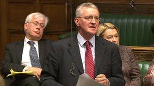 Hilary Benn addressing MPs