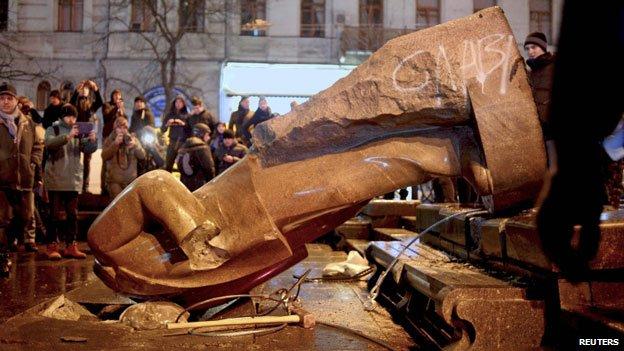Lenin statue, Kiev