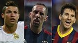 Ronaldo, Ribery and Messi