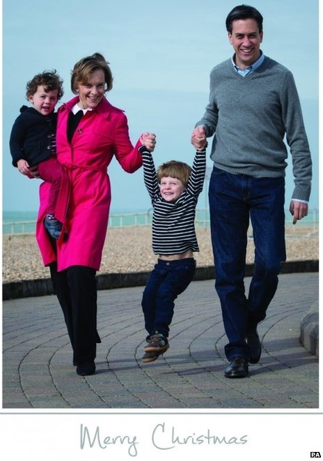 Ed Miliband, his wife Justine and their sons Sam and Daniel