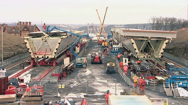 Parts of the Queensferry Crossing bridge