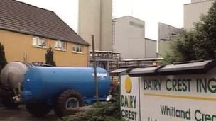 The Whitland creamery was first closed in 1994 but a dairy reopened