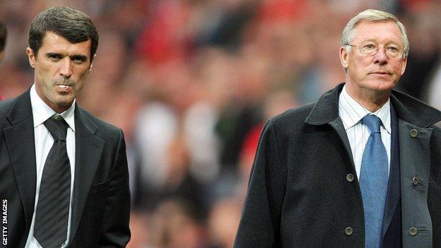 Roy Keane (left) and Sir Alex Ferguson