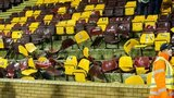 Seats were broken at Fir Park