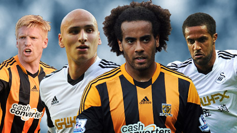 (left to right) McShane, Shelvey, Huddlestone, Routledge