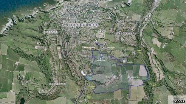 Area proposed for development