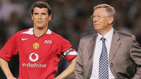 Sir Alex Ferguson (left) and Roy Keane