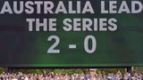 Scoreboard in Adelaide shows Australia leading series 2-0