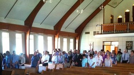 Congregation at the Dutch Reformed Church in Ventersdorp